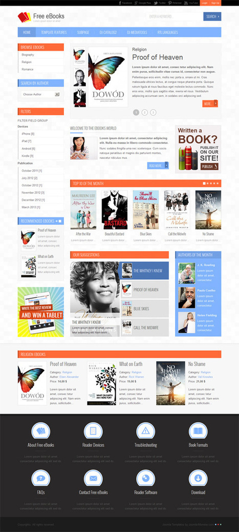 JM-Free-Ebooks, Joomla Electronics PDF Download Template | Premium Download | I want to download this template | Scoop.it