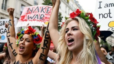 Pushing a feminist cause, topless | A Voice of Our Own | Scoop.it