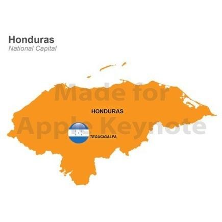 Honduras Map for Keynote Mac | Apple Keynote Slides For Sale | Scoop.it
