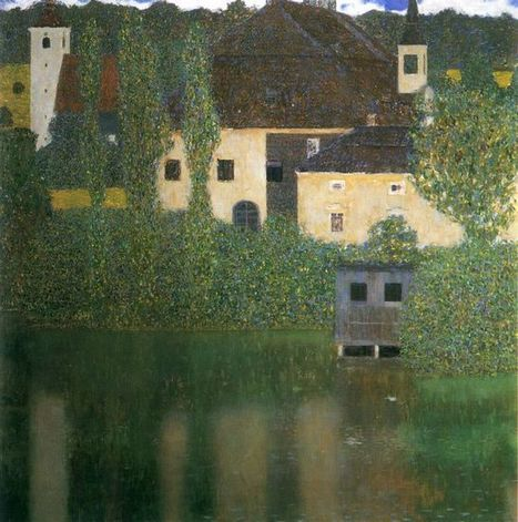 Oil painting reproduction: Gustav Klimt Water Castle - Artisoo.com | Landscapes oil paintings | Scoop.it