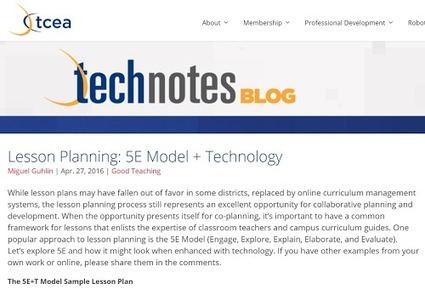 Lesson Planning: 5E Model + Technology | Around the Corner-MGuhlin.org | Learning*Education*Technology | Scoop.it