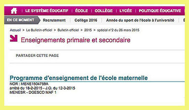 Les nouveaux programmes, la maternelle et le numérique | E-maternelle | Scoop.it