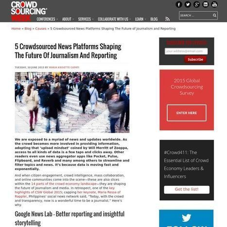 5 Crowdsourced News Platforms Shaping The Future of Journalism and Reporting | Content Strategy and the Future of Publishing and Journalism | Scoop.it