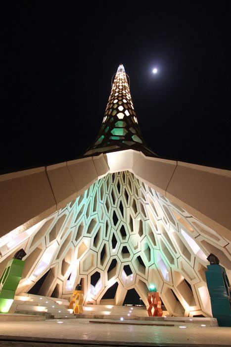 Contemporary Honeycomb Lighthouse / KAUST Breakwater Beacon | Architecture Magazine | Interest | Scoop.it