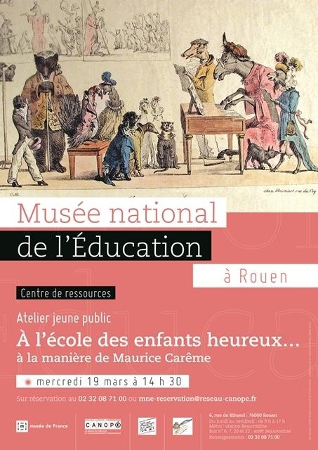 Atelier Jeune Public spécial Printemps des Poètes 19 mars 14h30   Actualités du Musée national de l'Education (Munaé)   Scoop.it