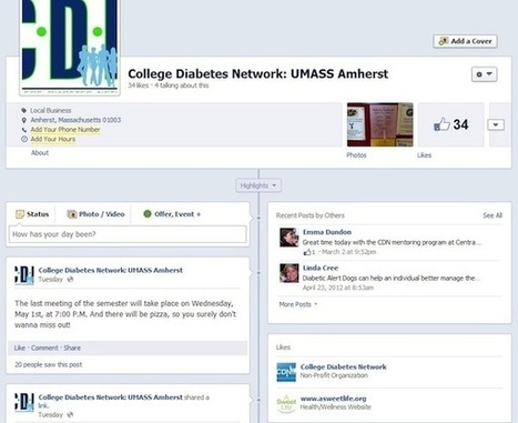 College Diabetes Network at UMass Amherst, President | A S