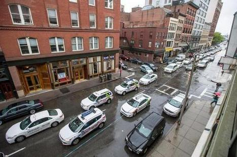 Taxi drivers protest at Uber's Boston offices - The Boston Globe | private taxi fleets | Scoop.it
