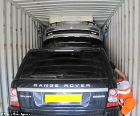 Thieves play car Tetris as they squeeze four Range Rovers worth £250,000 into container to sneak them out of the country | TRACKER UK | Scoop.it
