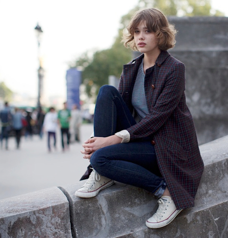 [On the Street] Grand Palais, Paris, France | via The Sartorialist | Fashion & more... | Scoop.it