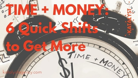 TIME + MONEY: 6 Quick Shifts to Get More | Small Business On The Web | Scoop.it