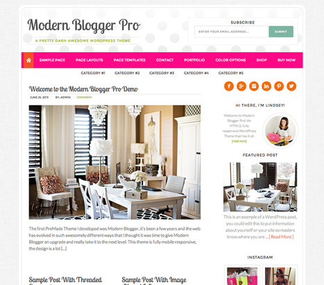 Modern Blogger Theme v2.0 – Studiopress Genesis Framework Wordpress Theme Free Download - Template1st.com | Blogger themes | Scoop.it