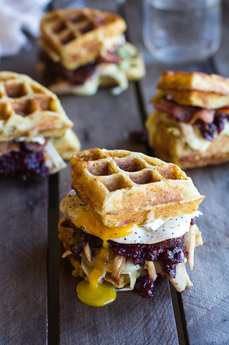 Turkey, Smashed Avocado, Cranberry, Brie and Mashed Potato Waffle Melts - Half Baked Harvest | Food Porn | Scoop.it