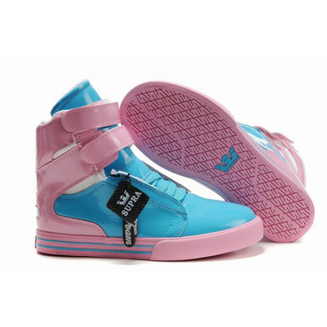 blue pink supra tk society women leather skateboard sneakers | popular list | Scoop.it