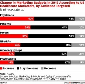 Changes In Health Care Marketing Budgets In 2013 By Target Audience [CHART]   Health care & Social security   Scoop.it