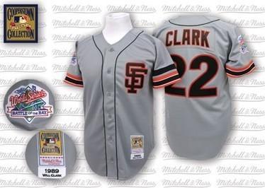 San Francisco Giants 22 Will Clark Grey Road Throwback Jersey,Online sale San Francisco Giants 22 Will Clark Grey Road Throwback Jersey | Other Brand Clothings | Scoop.it