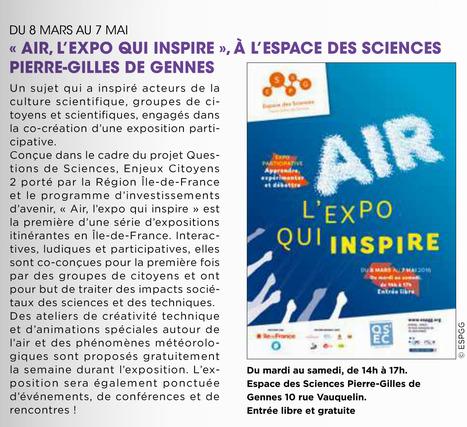 Air, l'expo qui inspire | Les actualités du groupe Traces et de l'Espace des sciences Pierre-Gilles de Gennes de l'ESPCI ParisTech | Scoop.it
