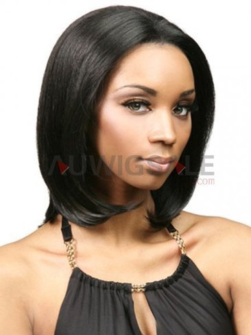 Cheap 14 Mono Mid-Length Straight Black Human Hair Wigs Without Bangs | Cheap Wigs Online Shopping at Auwigsale.com | Scoop.it