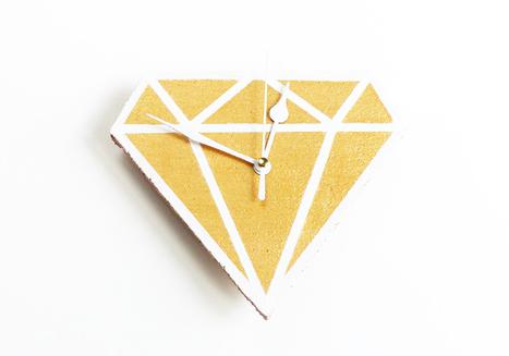 Les idees créatives - Horloge diamant | Récup Création | Scoop.it