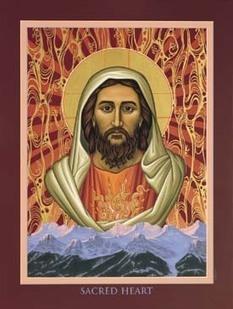 Sacred Heart Icon by Nancy Oliphant | The Amused Catholic: an Ezine | Scoop.it