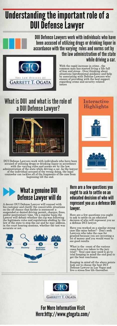Understanding the important role of a DUI Defense Lawyer | Crimanal Attorney | Scoop.it