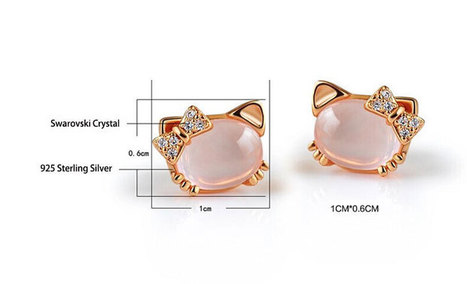 Cute Hello Kitty Crystal Earrings - DearyBox | Jewellery On-line Boutique Shop | DearyBox.co.uk | Women's Earrings | Scoop.it