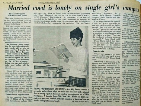 Throwback Thursday, Week 6: Marriage and the female college student | Daily Bruin | Healthy Marriage Links and Clips | Scoop.it