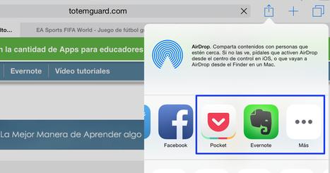 iOS 8: Cómo capturar contenido web desde el navegador de tu iPad a otra App   Evernote & Educació   Scoop.it