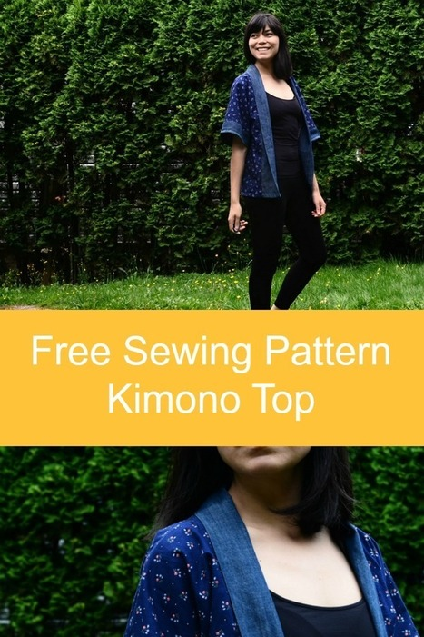 Sewing Tutorial : how to make a Kimono Top - On The Cutting Floor | Bazaar | Scoop.it