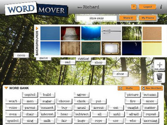 Free Technology for Teachers: Word Mover Helps Students Start Poems | Technology for classrooms | Scoop.it