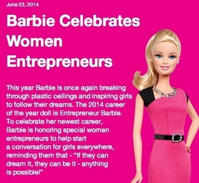 Barbie entrepreneure veut briser le plafond de plastoc | Mixite | Scoop.it