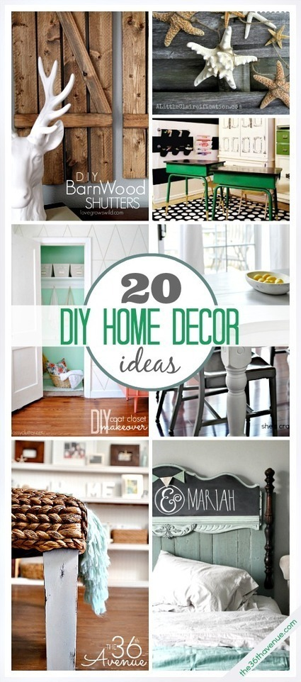 20 DIY Home Decor Ideas   home improvement   Scoop.it