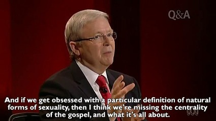 Kevin Rudd smashes a pastor's views on marriage equality in Q&A session | Sex Positive | Scoop.it