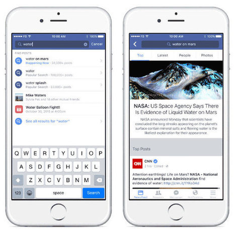 Facebook attaque frontalement Google en modifiant son moteur de recherche interne - JDN | Mass marketing innovations | Scoop.it