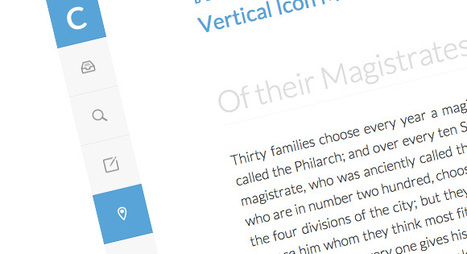 Vertical Icon Menu | Codrops | vertical icon menu | Scoop.it