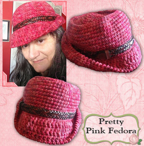 Pretty Pink Fedora | Crocheting for my family | Scoop.it