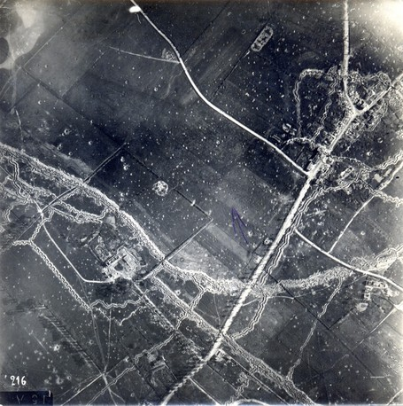Aerial Photograph of the Trenches at Ypres 29th July 1915 | GenealoNet | Scoop.it