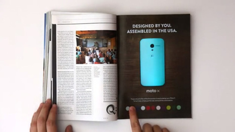 Motorola : une pub interactive dans le magazine Wired   Digital Success Story   Scoop.it