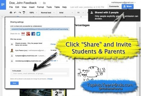 How to Use Google Drive for Descriptive Feedback Using Sharing Options | Continuing Professional Development - CCMS | Scoop.it