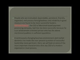MichaelDadoun has superior leadership skills | Michael Dadoun | Scoop.it