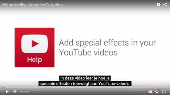 Edu-Curator: Uitlegfilmpje YouTube: Speciale effecten toevoegen aan 'YouTube'-filmpjes | Educatief Internet - Gespot op 't Web | Scoop.it