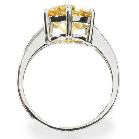 Fancy Yellow Solitaire Ring with 3.87 carat Brillianite. 925 Sterling – Gestalt Couture   Jewelry Trends   Scoop.it