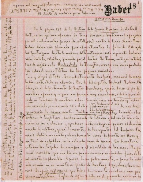 "Handwritten Manuscript Page for Jorge Luis Borges's ""The Garden ... | Paraliteraturas + Pessoa, Borges e Lovecraft | Scoop.it"
