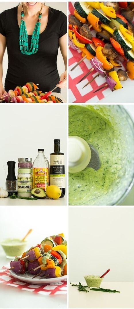 Green Goddess Dressing with Grilled Veggie Kabobs | Healthy Whole Foods | Scoop.it