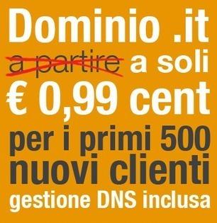 Registrazione domini .it a solo € 0,99 - Gestione DNS Inclusa | Top Hosting & Server | Scoop.it