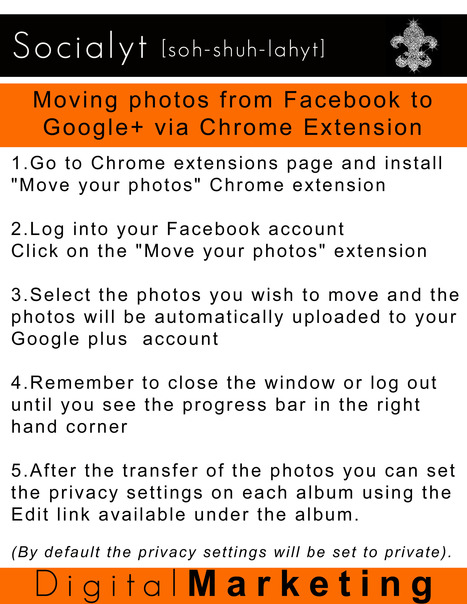 Moving photos from Facebook to Google+ via Google Chrome Extension | Socialyt Digital Marketing | Scoop.it