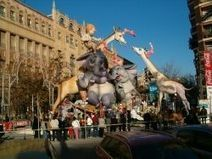 """The """"Las Fallas"""" festival of Valencia in Spain 