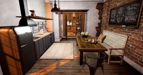 Industrial kitchen | Second life HOUSE | Scoop.it
