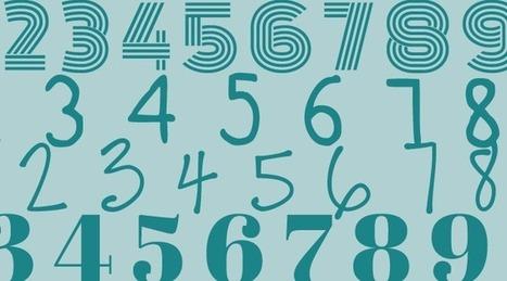 10 Tipografías para Usar Números Creativos y Originales • Silo Creativo | Educacion, ecologia y TIC | Scoop.it