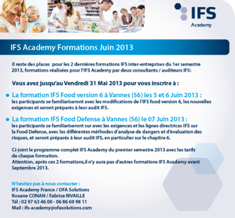 IFS Academy - des places restantes pour la session de juin | qualité | Scoop.it