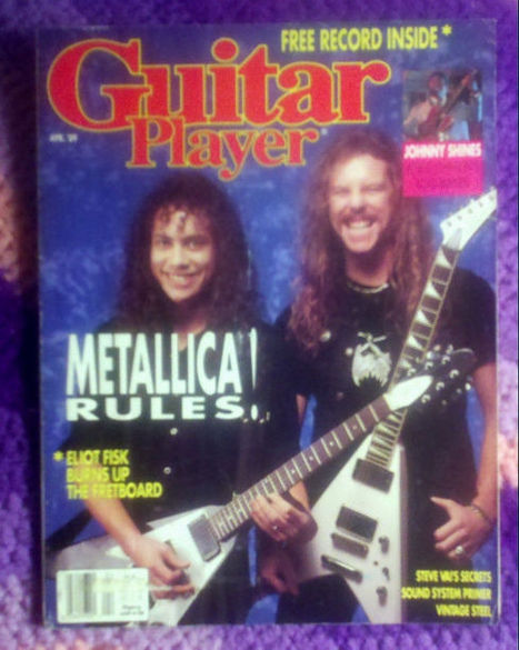 Guitar Player Magazine April 1989 Metallica with soundpage record inside | Guitare | Scoop.it